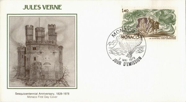 Monaco 1978 Birth Sesquicentennial of Jules Verne FDCn