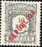 Mozambique 1916 Postage Stamps from 1904 Overprinted REPUBLICA b