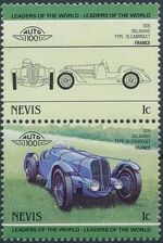 Nevis 1985 Leaders of the World - Auto 100 (3rd Group) a
