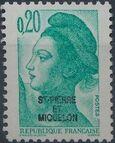 St Pierre et Miquelon 1986 Liberty from France Overprinted ST-PIERRE ET MIQUELON c