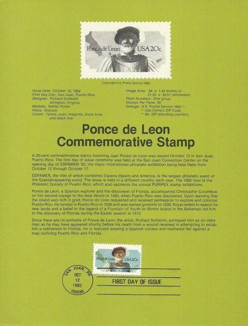 United States of America 1982 Ponce de Leon IOPa
