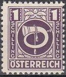 Austria 1945 Posthorn o