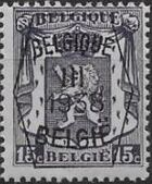 Belgium 1938 Coat of Arms - Precancel (3rd Group) a