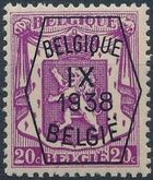 Belgium 1938 Coat of Arms - Precancel (9th Group) b