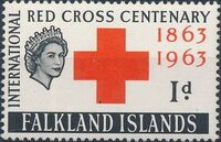 Falkland Islands 1963 100th Anniversary of Red Cross a