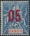 Gabon 1912 Navigation and Commerce Surcharged e.jpg