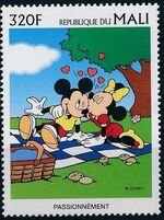 Mali 1997 Greetings Stamps - Walt Disney Characters h