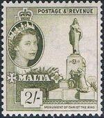 Malta 1956 Elizabeth II m