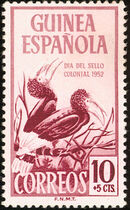 Spanish Guinea 1952 Colonial Stamp Day (Birds) b