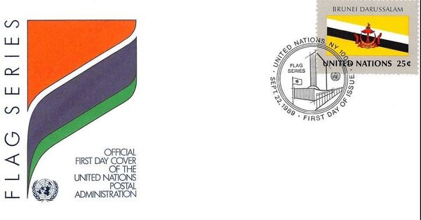 United Nations-New York 1989 Flag Series FDCn