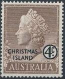 Christmas Island 1958 Queen Elizabeth II b