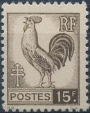 France 1944 Series d'Algiers (Cock of Alger and Marianne of Fernez) g