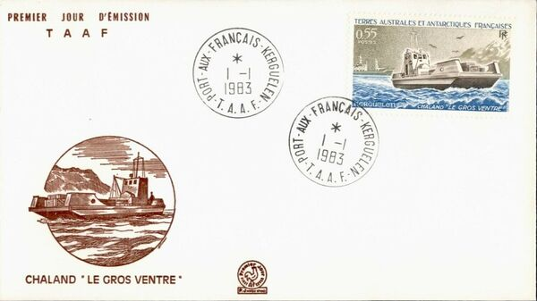 French Southern and Antarctic Territories 1983 Landing Ship Le Gros Ventre, Kerguelen FCa