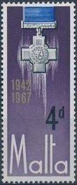 Malta 1967 25th Anniversary Of The George Cross Award b