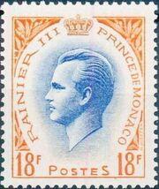 Monaco 1955 Prince Rainier III e