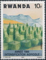 Rwanda 1986 Soil Erosion Prevention (Surcharged and Overprinted) d