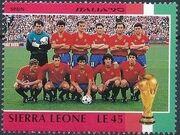 Sierra Leone 1990 Football World Cup in Italy u