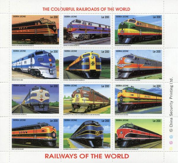 Sierra Leone 1995 Railways of the World Sa