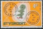 St Vincent 1979 Cancellations and Location of Village d