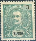 Timor 1903 D. Carlos I - New Values and Colors a