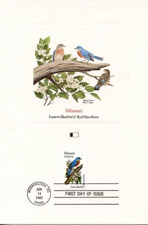 United States of America 1982 State birds and flowers FOLc7
