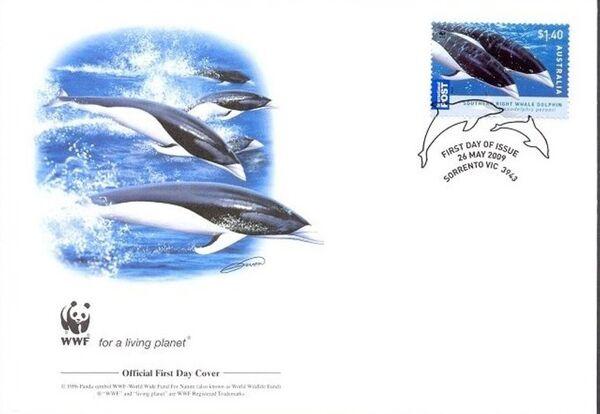 Australia 2009 WWF - Dolphins of the Australian Coastline FDCc