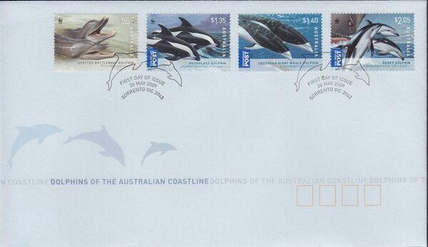 Australia 2009 WWF - Dolphins of the Australian Coastline FDCe