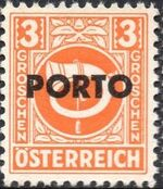 Austria 1946 Occupation Stamps of the Allied Military Government Overprinted in Black a
