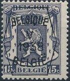 Belgium 1938 Coat of Arms - Precancel (5th Group) a