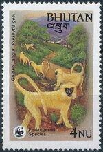 Bhutan 1984 WWF - Golden Langur d
