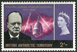 British Antarctic Territory 1966 Churchill Memorial d