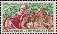 Dahomey 1966 Pope Paul VI and UN General Assembly a
