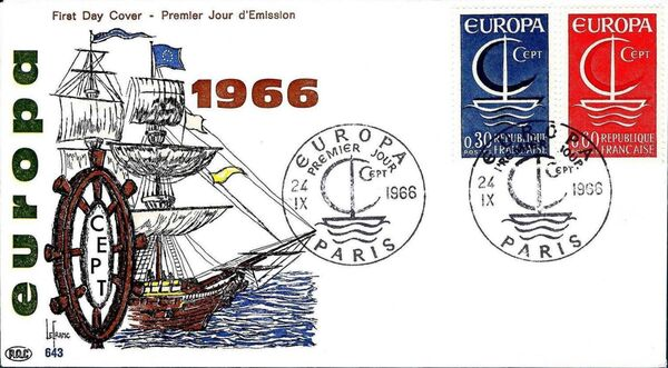 France 1966 EUROPA FDCb