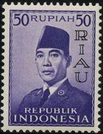 Indonesia-Riau 1960 President Sukarno - Definitives i
