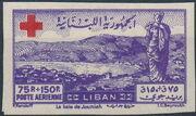 Lebanon 1947 Surtax for the Red Cross i