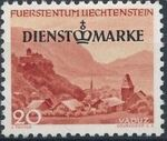 Liechtenstein 1947 Stamps of 1944-1945 overprinted - Official Stamps c