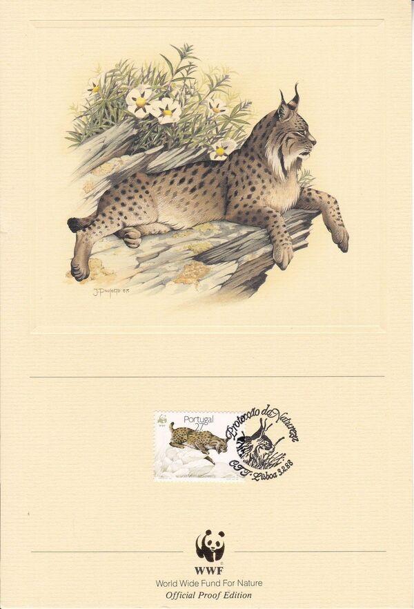 Portugal 1988 WWF Iberian Lynx (Lynx pardina) OPEa