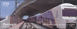 Portugal 1999 Inauguration of Rail Link Over 25th of April Bridge d
