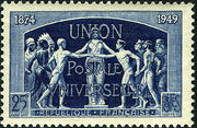 France 1949 75th Anniversary of UPU c