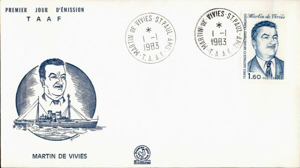 French Southern and Antarctic Territories 1983 Martin de Vivies, Explorer FCa