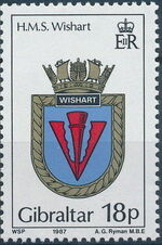 Gibraltar 1987 Royal Navy Crests 6th Group a