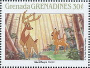 Grenada Grenadines 1988 The Disney Animal Stories in Postage Stamps 1f