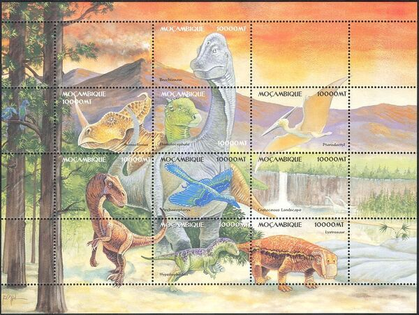 Mozambique 2002 Dinosaurs Sa