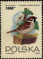 Poland 1993 Birds a