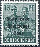 Russian Zone 1948 Overprint - Sowjetische Besatzungs Zone g