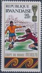 Rwanda 1970 Football World Cup - Mexico a