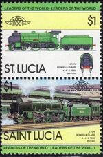 St Lucia 1983 Leaders of the World - LOCO 100 f