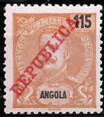 Angola 1911 D. Carlos I Overprinted j