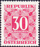 Austria 1949 Postage Due Stamps - Square frame with digit (1st Group) f
