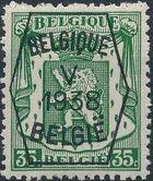 Belgium 1938 Coat of Arms - Precancel (5th Group) e